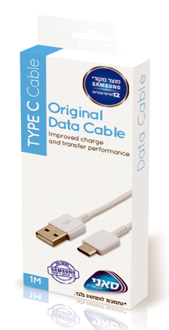 """כבל USB מקורי בחיבור TYPE C מהיבואן הרשמי של SAMSUNG """"סאני""""  - משלוח חינם"""