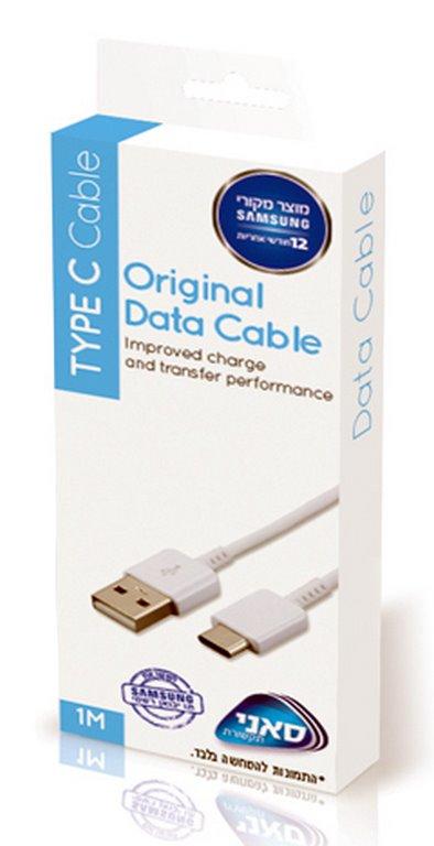 """כבל USB מקורי בחיבור TYPE C מהיבואן הרשמי של SAMSUNG """"סאני"""""""