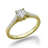 """טבעת אירוסין """"אשלי"""" זהב צהוב 0.61 קראט"""