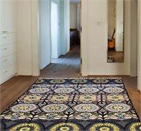 שטיח צמר פרחוני אותנטי מעבודת יד במגוון גדלים לבחירה