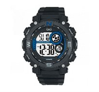 שעון יד דיגיטלי לגבר - שחור/כחול