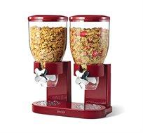 מתקן דגני בוקר כפול food appeal מעוצב ZEVRO בשני צבעים לבחירה