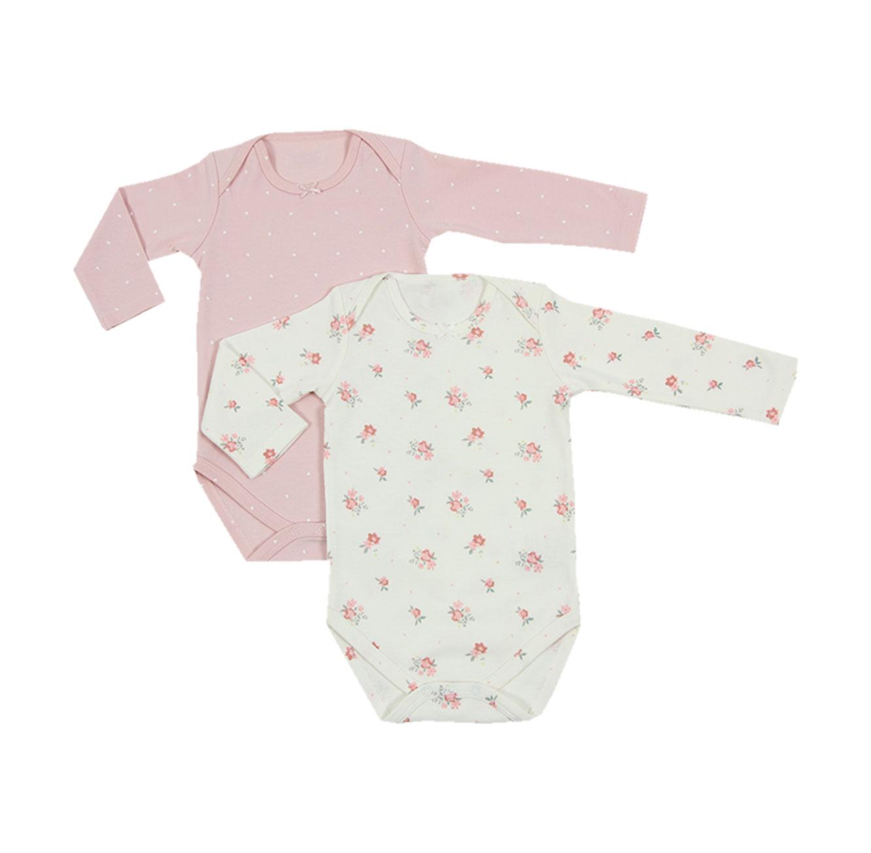 זוג בגדי גוף לתינוקות - צבע לבחירה