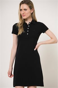 שמלת פולו עם כפתורים לנשים Nautica בצבע שחור
