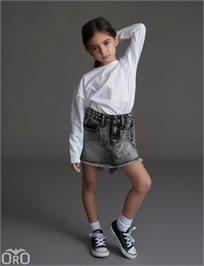ORO/ חצאית ג'ינס (16-2 שנים) - אפור