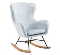 כורסא מרופדת עם רגלי נדנדה מבד קטיפתי ורך HOME DECOR דגם ADI
