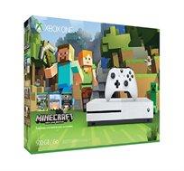 מארז הכולל קוונסלת Xbox One S בנפח 1TB בצבע לבן, בקר אלחוטי ומשחק MINDCRAFT