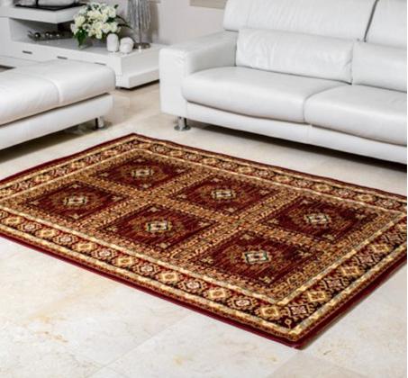 שטיח קילים עשוי מ - 100% סיבי היטסט הניתנים לניקוי בקלות בדוגמאות אתניות וקלאסיות לבחירה - תמונה 3