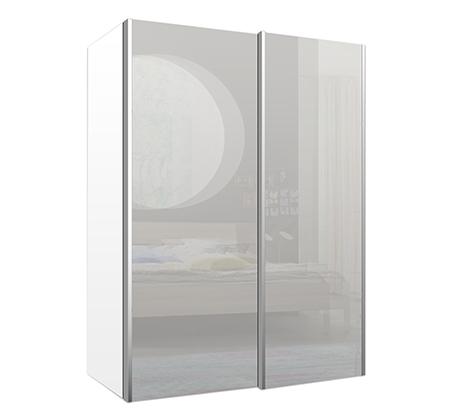 ארון הזזה דגם סוהו בשילוב זכוכית עם דלתות מרחפות