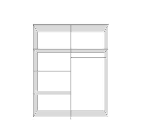 ארון הזזה יוקרתי דגם סוהו בשילוב זכוכית עם דלתות מרחפות במגוון צבעים לבחירה - תמונה 3