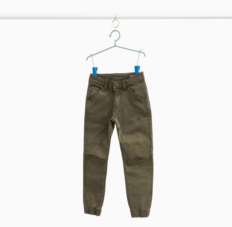 מכנסי סטרץ' ארוכים OVS לילדים - ירוק זית