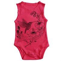 בגד גוף No Biggie לתינוקות (מידות 0-18 חודשים) ורוד