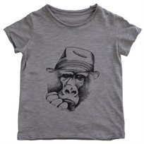 חולצה No Biggie לילדים (8 שנים-Nb) אפור
