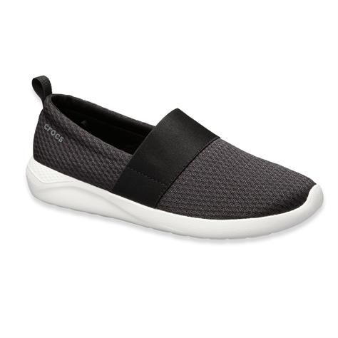 Crocs Literide Mesh Slip On W  - נעלי לייט-רייד בצבע אפורלבן עם חלק עליון רשת
