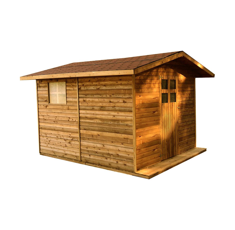 מחסן בקתה לחצר עשוי מעץ אשוחית בעל בידוד גבוה וצבע דוחה מים בגדלים לבחירה BRADEX - תמונה 3