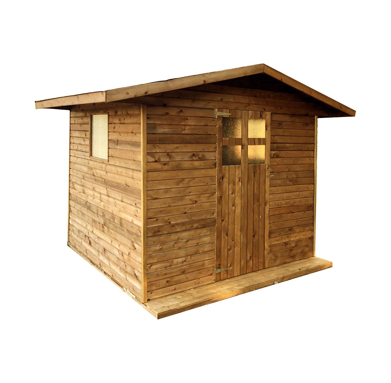 מחסן בקתה לחצר עשוי מעץ אשוחית בעל בידוד גבוה וצבע דוחה מים בגדלים לבחירה BRADEX - תמונה 2