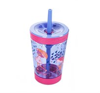 כוס שתיה עם קשית CONTIGO המתאימה במיוחד לילדים במבחר דגמים לבחירה