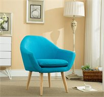 כורסא מרופדת בשילוב עץ אורן במגוון צבעים לבחירה