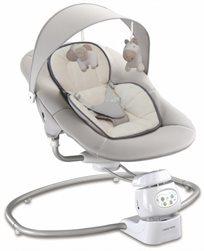 נדנדה חשמלית לתינוק עם מנגנון סיבוב 360 מעלות ושנאי By-002