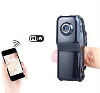 מצלמת IP אלחוטית זעירה עם מיקרופון ל-IPHONE/ANDROID מאפשרת  צפיה במתרחש מכל מקום בעולם +הקלטה