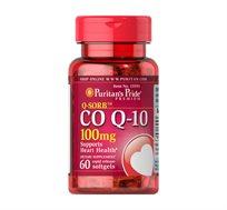 """קו-אנזים Q-SORB™ 100mg Q10 תוצרת Puritan's Pride ארה""""ב - 60 כמוסות רכות"""