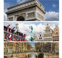 """חלומות מתגשמים - הולנד, בלגיה וצרפת, 8 ימי טיול מאורגן כולל אירוח ע""""ב א.בוקר החל מכ-$919*"""