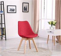 כסא לפינת אוכל עם רגליים מעץ אלון מלא דגם SONET במגוון צבעים לבחירה