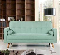 ספה לאירוח נפתחת למיטה בעלת בד רך למגע צבע טורקיז