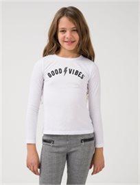 חולצת Good_Vibes מלאנז