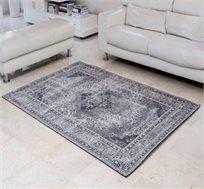 שטיח איכותי באריגת ג'אקרד SAROUK-GREY תוצרת הודו במגוון גדלים