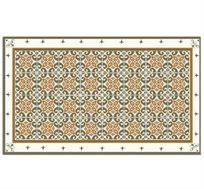 שטיח PVC במגוון גדלים אידיאלי לשימוש במטבח דגם רוזה חרדל פיין גיפטס