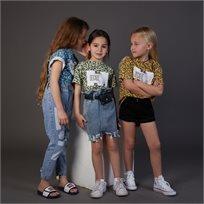 חצאית Oro לילדות (מידות 2-7 שנים) ג'ינס פאוץ