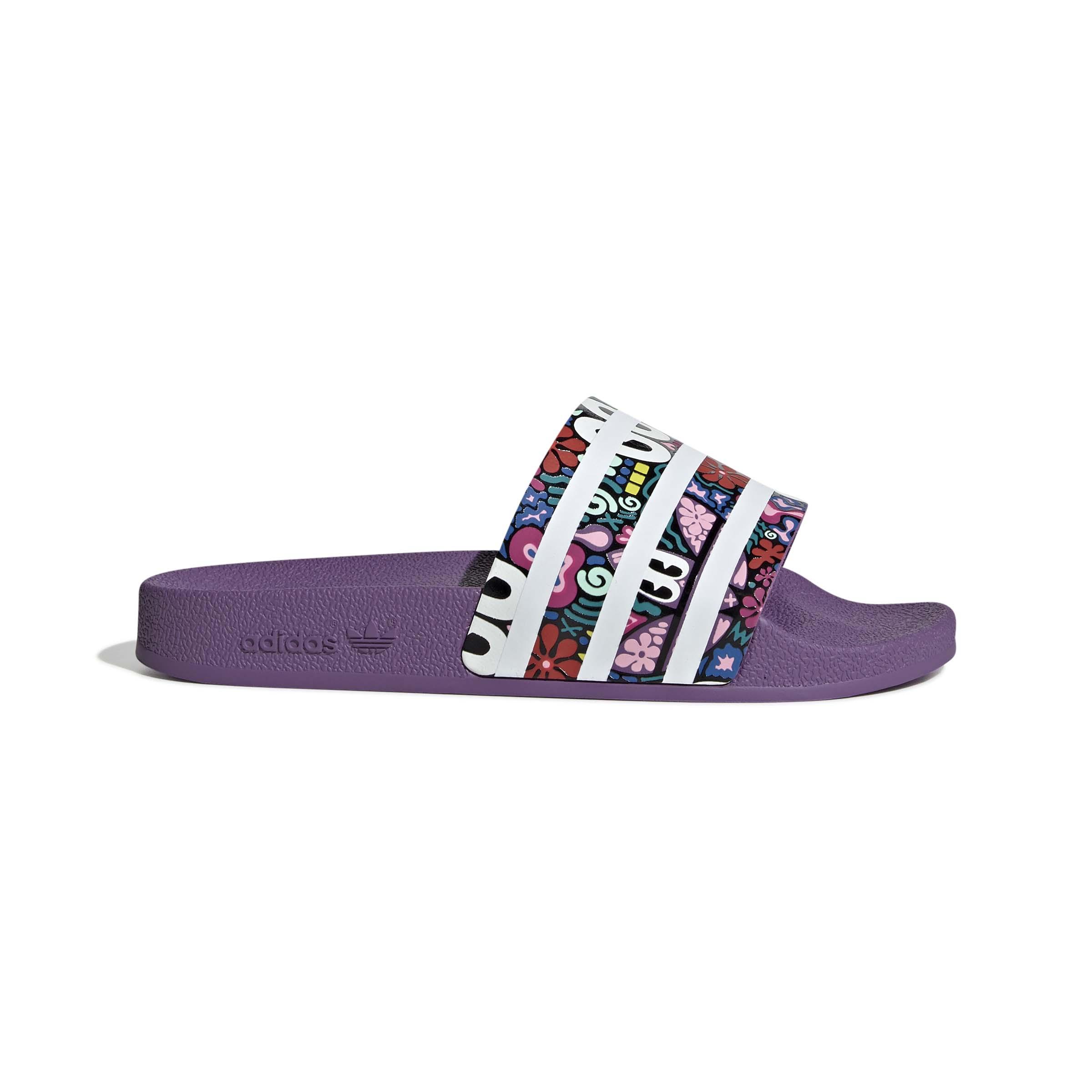 Adilette Slides Purple - נשים Adidas
