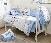סט מצעים 3 חלקים למיטת תינוק פו הדב בלון תכלת