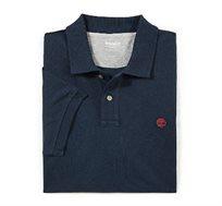 חולצת פולו Timberland לגברים בצבע כחול כהה