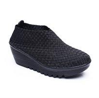Rock Spring Sharon - נעל פלטפורמה עם דוגמה קלועה בצבע שחור