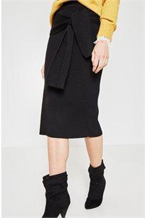 חצאית בגזרת צינור PROMOD לנשים - שחור