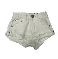 ORO/ שורט ג'ינס (16-2 שנים) -  לבן קרעים