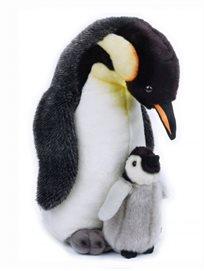 נשיונל ג'אוגרפיק גדול - בובת פינגווין עם גור