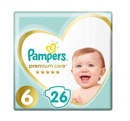 מארז 4 חבילות חיתולים Pampers Premium מידה 2 ו-6 לבחירה - תמונה 2