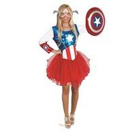 תחפושת לפורים קפטן אמריקה שמלת טוטו לנערות - שושי זוהר