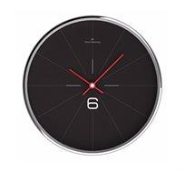 שעון קיר שחור קווים דקים ומסגרת מתכת OLIVER HEMMING