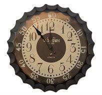 שעון קיר שחור בעיצוב פקק מראה דקות העשוי מתכת U DESIGN