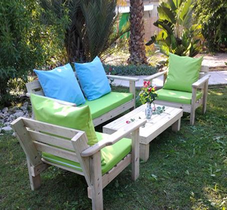 פינת ישיבה מוגבהת לישיבה נוחה מעץ אורן איכותי במבחר צבעים לבחירה - תמונה 4