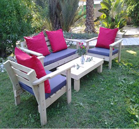 פינת ישיבה מוגבהת לישיבה נוחה מעץ אורן איכותי במבחר צבעים לבחירה - תמונה 2