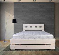 מיטה זוגית מעץ אורן מלא דגם 5005 אולימפיה ומזרן מתנה במגוון צבעים לבחירה