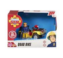כלי רכב לילדים עם אביזרים וחלקים זזים למשחק תפקידים כולל בובת סמי הכבאי