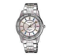 שעון יד אנלוגי בשילוב קריסטל סברובסקי - כסף