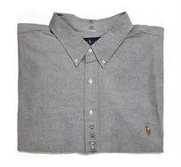 חולצה מכופתרת עם שרוול ארוך לגבר POLO RALPH LAUREN מידות גדולות בצבע אפור