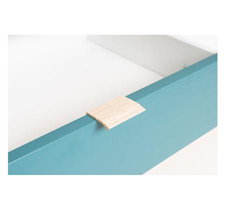 שולחן סלון מעוצב עם תא אחסון פתוח ושתי מגירות דגם BRADEX CUBA55  - תמונה 3